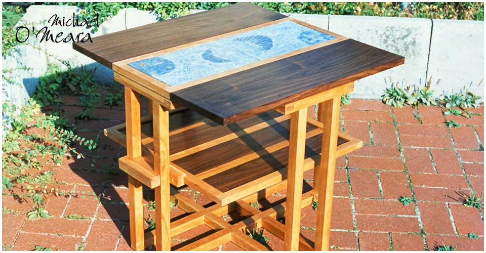 Small coffee table made by artisan Mike O'Meara